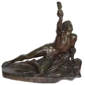 "Monumental French Bronze Sculpture ""Le Soldat Marathon"" Grand Tour Barbedienne"