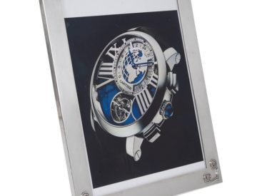 Art Deco Cartier Sterling Silver and Gold Picture Photo Frame