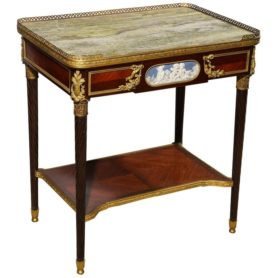 Exquisite French Ormolu and Wedgewood Mounted Table with Marble Top, circa 1880