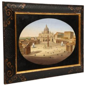 Large Italian Micromosaic Plaque of St. Marks Square, circa 1860