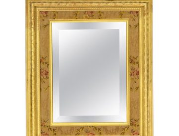 Large French Gilt Bronze Ormolu Mirror Frame with Easel, circa 1895